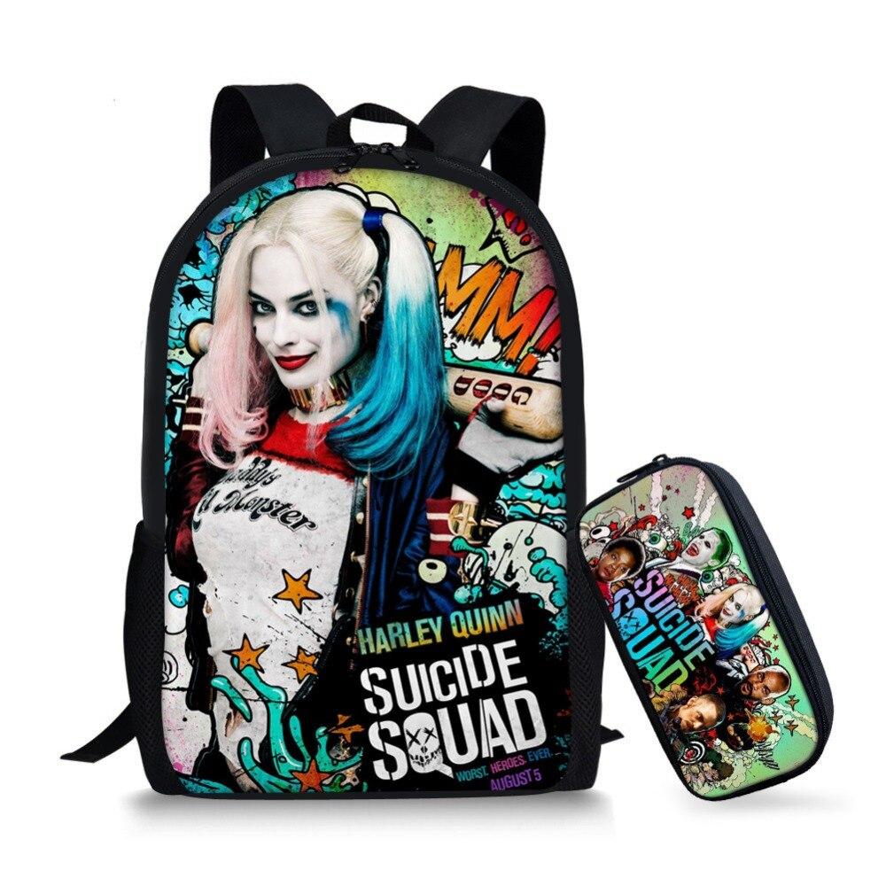 dedde292498 Jsb no suicide squad bag pack backpack for teenager children jpg 1000x1000  Harley quinn book bag