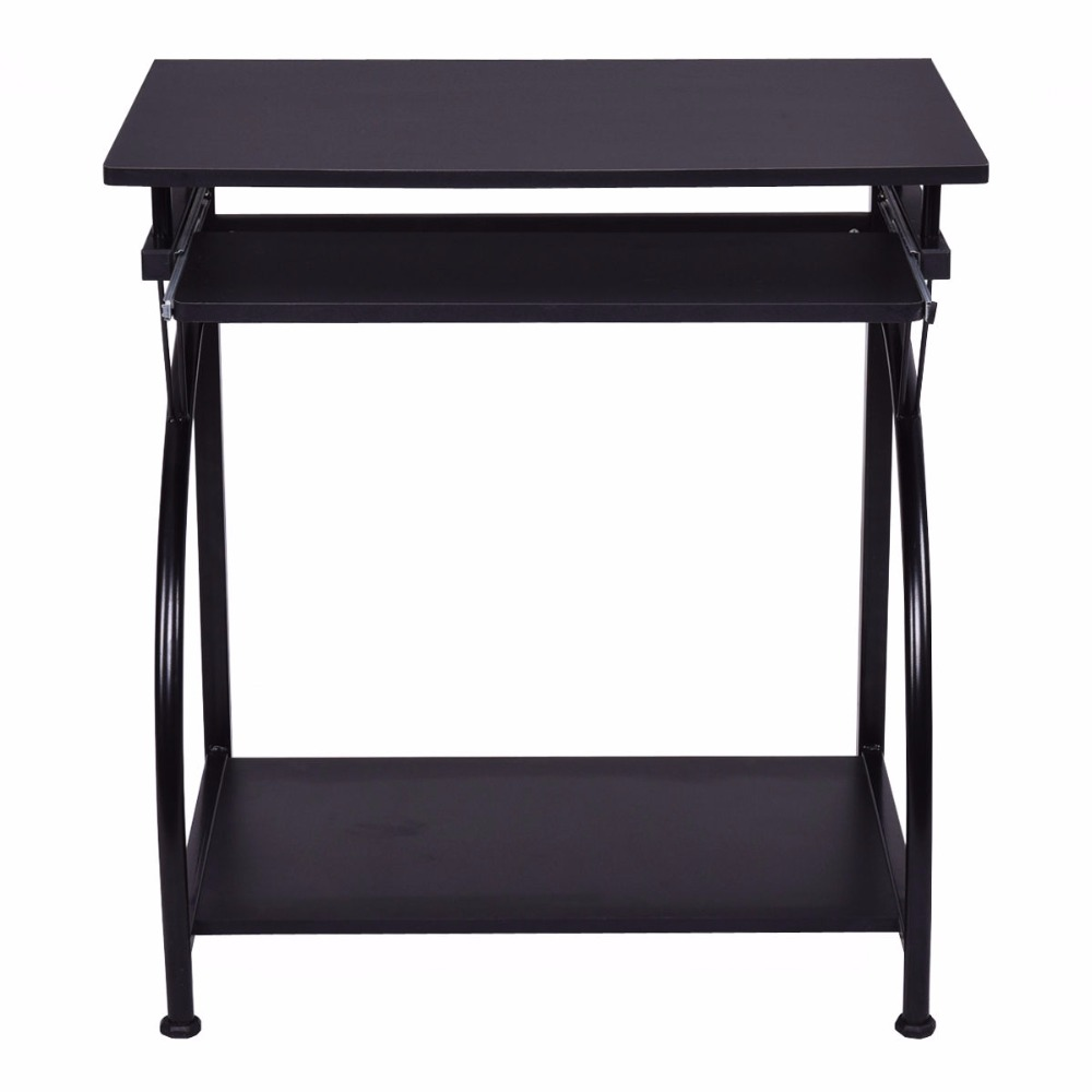 Goplus Computer Desk PC Laptop Table Students Study Workstation Desk Home Office  Furniture Black Modern Desks HW53854 In Laptop Desks From Furniture On ...