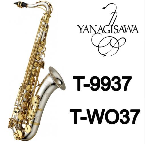 New Brand YANAGISAWA T-9937 T-WO37 Tenor Saxophone Silvering Gold Key Sax Professional Mouthpiece Patches Pads Reeds Bend Neck свитер hilfiger denim dm0dm02733 002 black iris