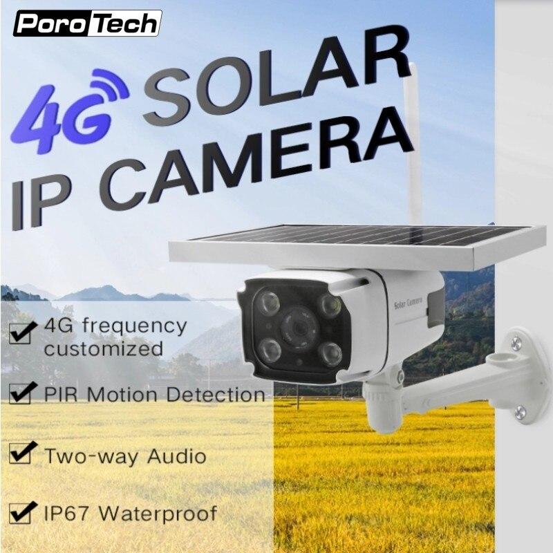 DHL gratuit 4G carte SIM solaire alimenté caméra IP HD 1080 P sans fil caméra de sécurité extérieure CCTV avec batterie intégrée YN88 N8