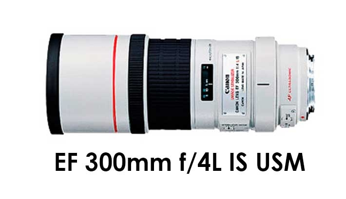New Canon EF 300mm f/4L f4 L IS USM Telephoto Lens for 5D
