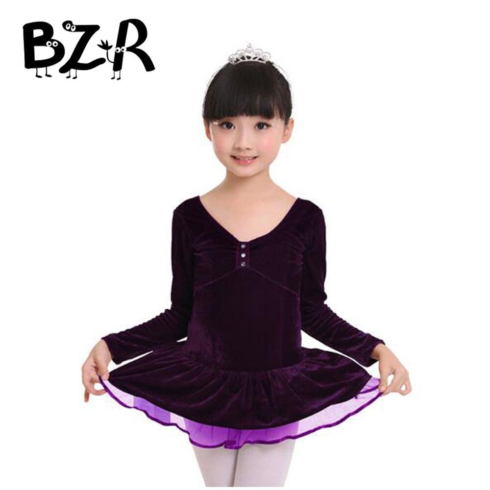 Bazzery girls tutu-cygne-enfant add velvet ballet dress jumpsuit for ballet dance kids ballet dance leotard tutu danse classique