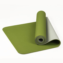 Tpe Double Color Yoga Mat 6mm Mat Environmental Friendly Tasteless Antiskid Fitness Outdoor Mat Tpe Yoga Plus Double Cushion Mat 1 pc fangcan tpe single layer standard yoga mat skin friendly non toxic and environmentally friendly