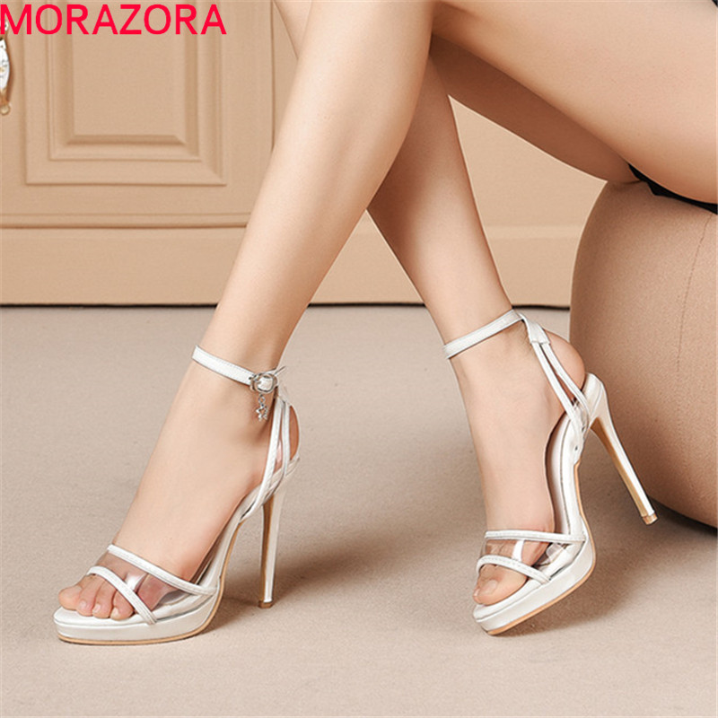MORAZORA 2019 big size 52 women <font><b>sandals</b></font> ankle strap summer shoes <font><b>sexy</b></font> super <font><b>high</b></font> <font><b>heels</b></font> shoes woman <font><b>platform</b></font> party shoes woman image