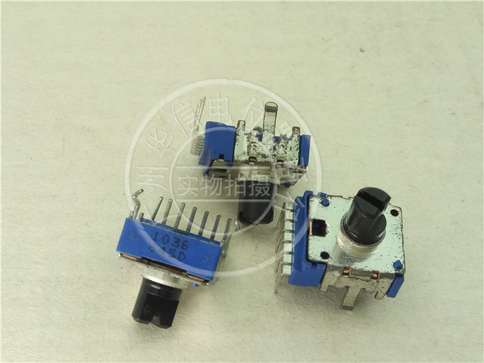 3pcs FOR ALPS 142 double potentiometer C20K / vertical rheostat handle length 8MMF / 7 feet image