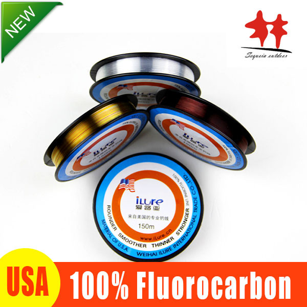 Fluorocarbon Fishing Line! Japanese BEST 100% FLUOROCARBON150M Leader Colorful Stand Carp Fishing Lines Super Smoother Stronger