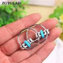 ZGTGLAD 1pcs Chain Fidget Toy Hand Spinner Key Ring Sensory Stress Relieve Toys Valentine's Day Birthday Gifts Party Favors(China)