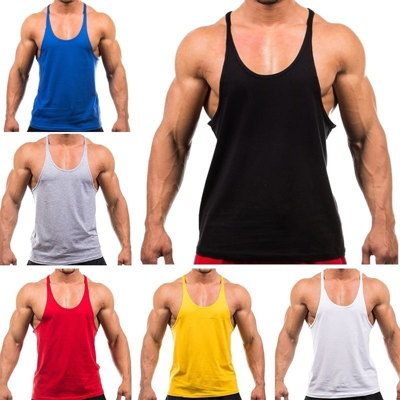 2018 Mens Stringer   Tank     Top   Y-back Muscle Gym Singlet Training Bodybuilding Vest