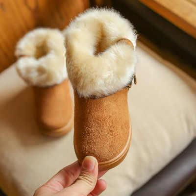 Kız sıcak kar botları 2019 kış yeni çocuk artı kadife pamuklu ayakkabılar kızlar prenses büyük çocuk botları