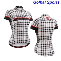 2018 New Womens Cycling Jersey Biking Clothing Rider Shirt Wear England Checked sport Girls Rider Shirt Happy girls