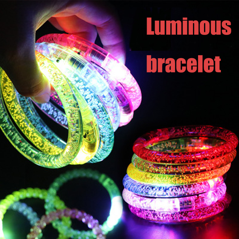 1pcs  Glow In The Dark Luminous Rings Bracelet New Children Toys Flash Gifts LED Cartoon Lights Toys For Childs Kids Playing Nig