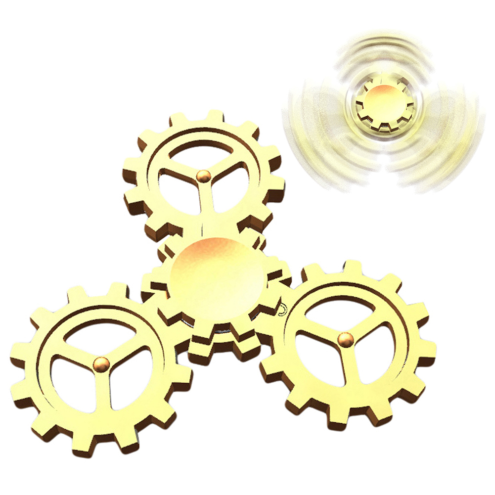 Four Gears Alloy Hand Spinner Finger Gyro Focus Autism ADHD EDC Kids Toy