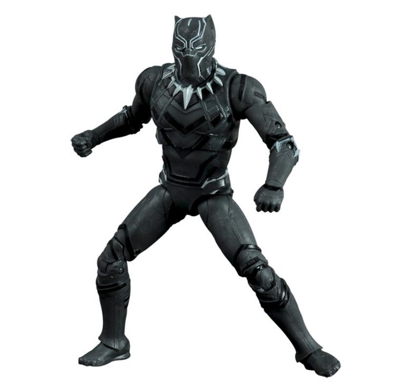 Marvel Avengers Captain America Civil War Black Panther PVC Action Figure Ant Man Iron Man Collectible Model Toy 17cm captain america civil war iron man 618 q version 10cm nendoroid pvc action figures model collectible toys