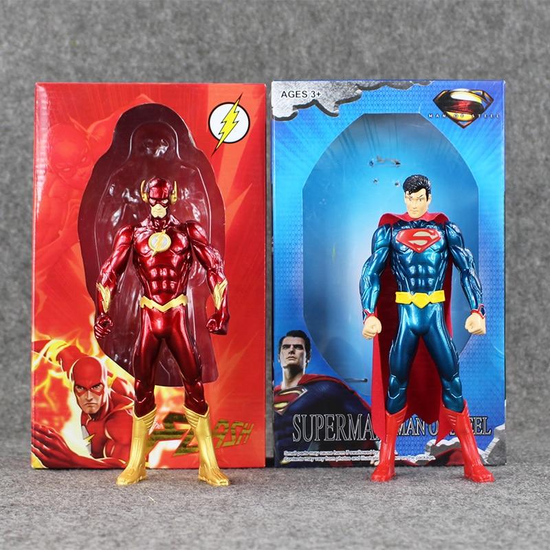 """7"""" 18cm 2 Styles Movie Justice League Superhero VS Iron Man The Flash Barry Allen PVC Action Figures Model Kids Toys"""