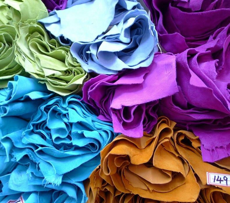 Qualitied Красочные Пушистый натуральной козьей замши Ткань для Броган Обувь/кошелек, сумки, бесплатная доставка