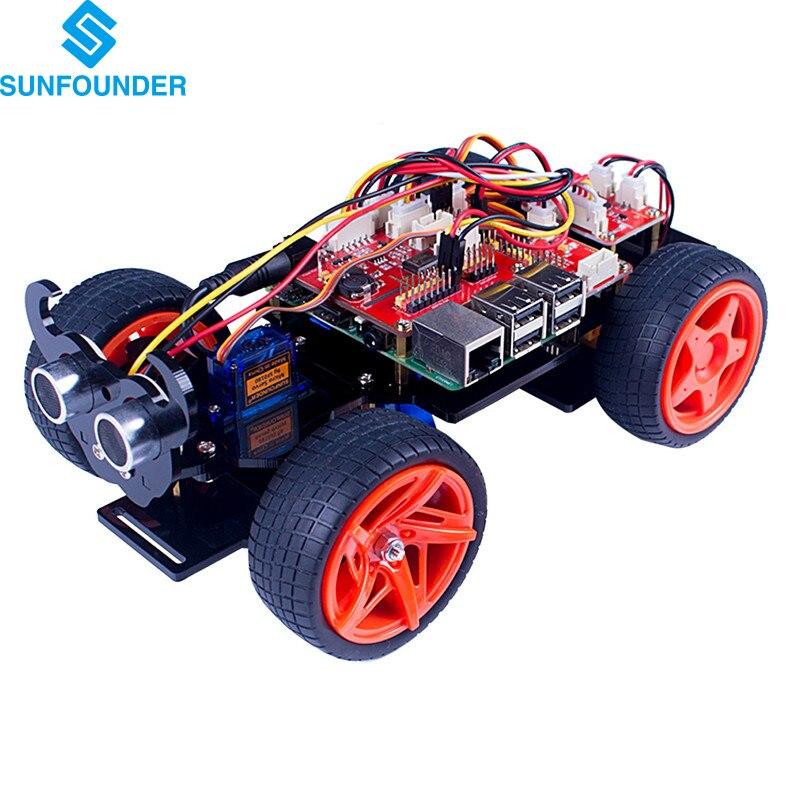 PiCar-S Kit SunFounder para Raspberry Pi 3/2/B + Línea Siguiente Módulo Robot Co