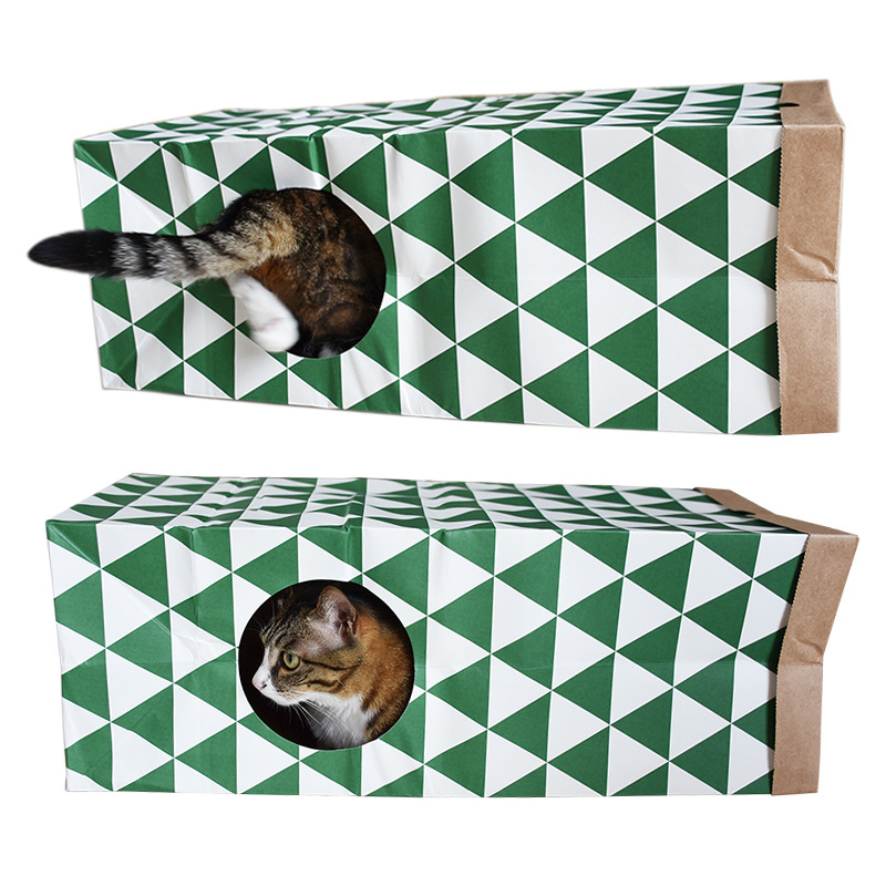 Pet toy cat supplies cat toy foreign trade amazon paper cat house cat channel tunnel