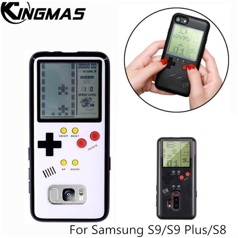 Coque de téléphone rétro Gameboy Tetris pour Samsung Galaxy S8 S9 Play Console de jeu housse cadeau silicone pour S9 Plus coque coque mobile