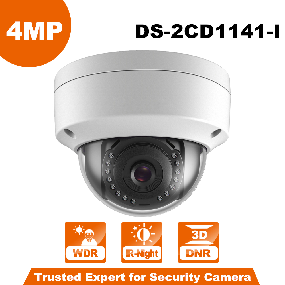 New Series 4 Megapixels POE IP Camera DS-2CD1141-I Indoor/Ooutdoor Fixed Day/Night Vision Security Camera ONVIF new lp2k series contactor lp2k06015 lp2k06015md lp2 k06015md 220v dc