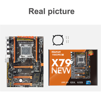 Good Quality Brand HUANAN ZHI Deluxe X79 LGA2011 Motherboard Bundle Discount Motherboard With M.2 Slot CPU Intel Xeon E5 2690 C2