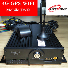 4G remote monitoring host Factory direct 4-channel dual SD truck dvr GPS wifi mobile dvr support NTSC/PAL system