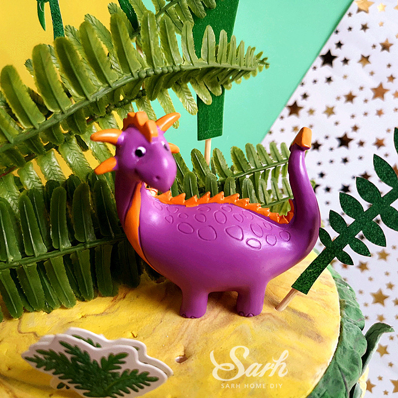 Image 3 - Coco Tree Leaf Cartoon Dinosaur Cake Topper Dessert Decoration for Birthday Party Lovely Gifts-in Cake Decorating Supplies from Home & Garden