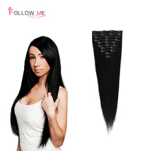 2016 New Coming Brazilian Clip In Extension Straight Clip In Human Hair Extensions For Woman 7A human Hair Clip In Extensions