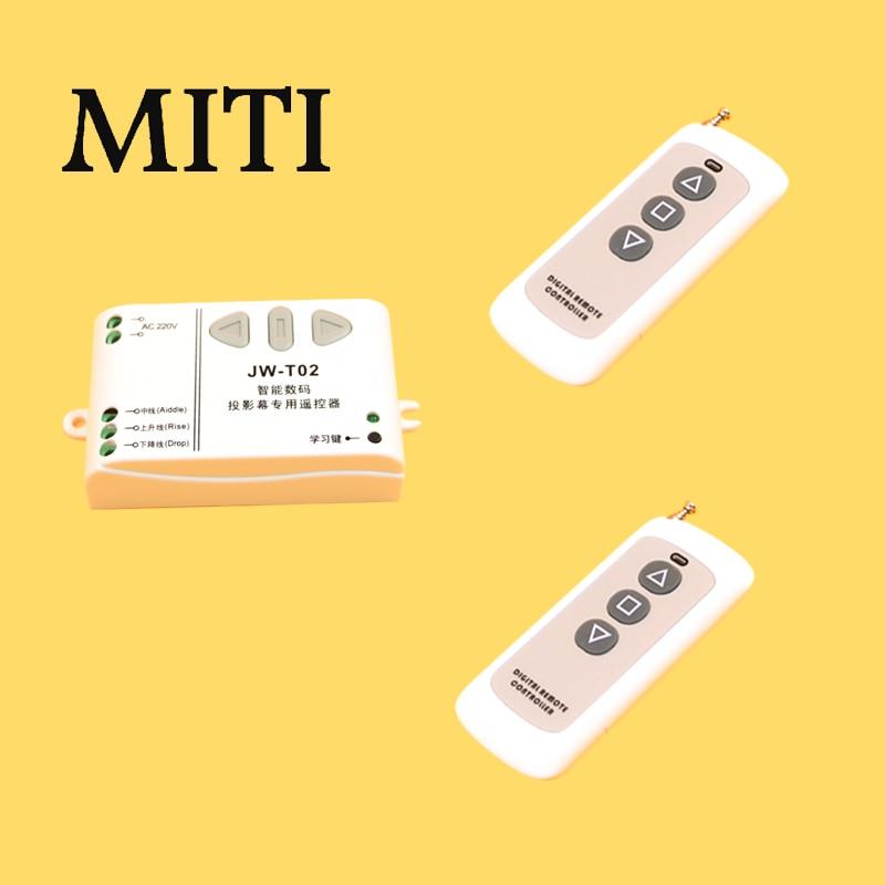 JW-T02 Sans Fil Télécommande 315 MHz/433 Mhz Contrôleur Frontal pour Électrique Projecteur Écrans Électrique Rideaux/Tour garage porte