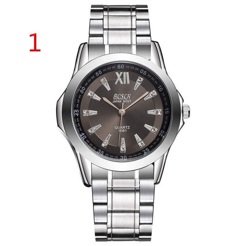 Wang's latest men's watch double calendar diamond watch men's steel belt gold waterproof automatic mechanical watch цена