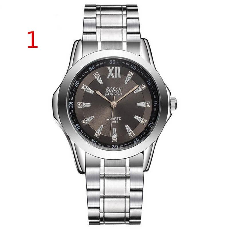 все цены на Wang's latest men's watch double calendar diamond watch men's steel belt gold waterproof automatic mechanical watch онлайн