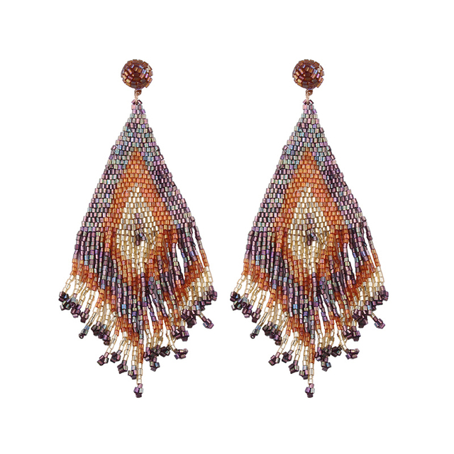 Handmade Beads Long Earrings  4