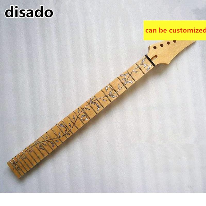 Disado 24 Frets inlay Arbre de Vie Guitare Électrique manche érable touche érable Gros Guitare accessoires Pièces