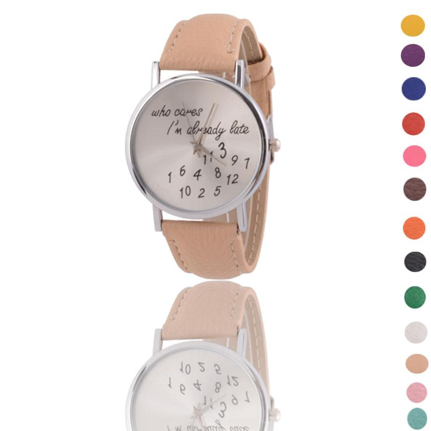 Dignity Women Leather Watch Who Cares I am Late Anyway Letter Watches MA 23 стоимость