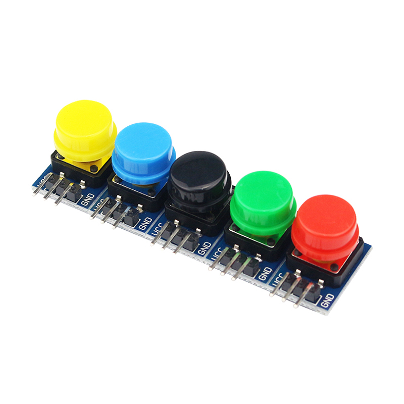 5pcs Key Module Button 3.5V 5V Module 20x13 MM Light Touch Switch Module + 5 Color Hat High Level For  Raspberry Pi 3 B+