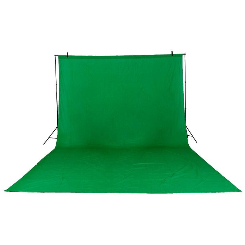 3 m X 6 m/9.8ftX19.6ft Coton Chromakey Muslin Fond Toile de Fond Photo Éclairage Studio Vidéo 3 Couleurs Vert noir Blanc