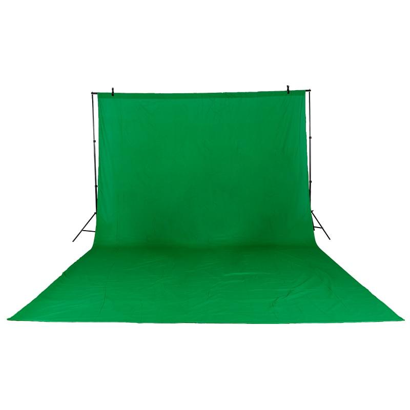 Toile de fond en mousseline Chromakey coton 3 m X 6 m/9.8ftX19.6ft pour éclairage Photo Studio vidéo 3 couleurs vert noir blanc