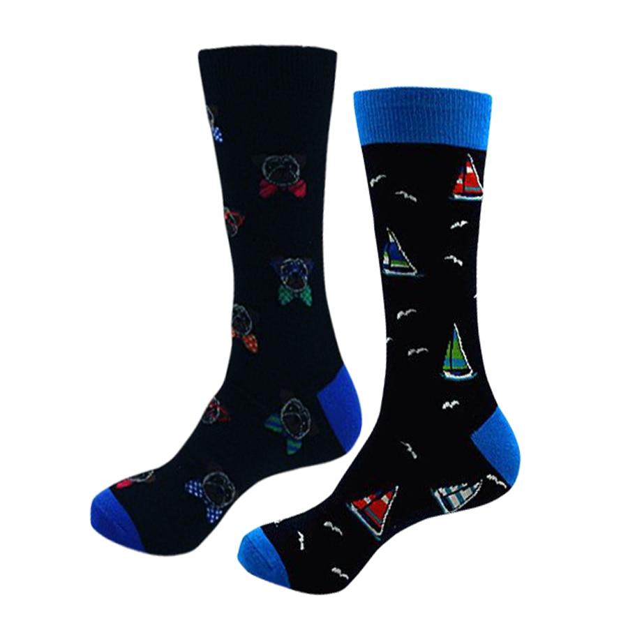 Wholesale 60 Pairs European and American Style Tube Male Socks Cotton Personality Cartoon Socks Cartoon Male Casual Funny Socks