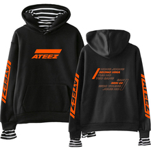 FADUN TOMMY ATEEZ Print Fake Two Pieces Hoodies 2019 Hot Sale Casual Wo