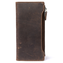 Guaranteed 10% Genuine Crazy Horse Leather Multi-Card Bit Men Wallets 2018 New Brand Male Purses Vintage Businessman Card Wallet a2015 brand new crazy horse genuine leather