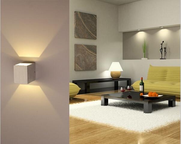 Անվճար առաքում առաջատար պատի լույսի նմուշ Ալյումինե պատի տեղում լույսի 3W Ժամանակակից տան ձևավորման լույս ննջասենյակի / ճաշասենյակ / հանգստի համար