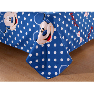 Image 2 - Disney Blue Mickey Mouse Duvet Cover Set 3 or 4 Pieces Double Single Size Bedding Set for Children Birthday Gift Bedroom Decor
