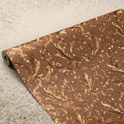 Classic European luxury gold foil wallpaper 3D luxury floral wall paper mural Living room bedroom wallpaper