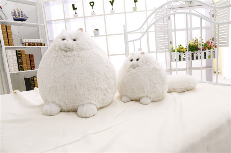 pure white cat shape cotton plush sofa cushion 30cm 50cm. Black Bedroom Furniture Sets. Home Design Ideas