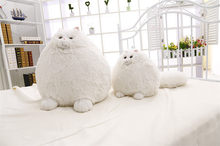 Pure White Cat Shape Cotton Plush Sofa Cushion 30cm 50cm Embrace Throw pillow Home Bedroom Decor Gift Seat Cushion Home&Garden(China)