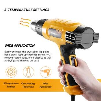 Deko DKHG02 220V Heteluchtpistool 2000W Thuis Diy 3 Verstelbare Temperatuur Geavanceerde Elektrische Heteluchtpistool Met 4 Nozzle Power Tool