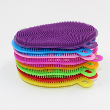 1PCS Multifunktionale Küche Waschen Reinigung Pinsel Pinsel Silikon Gerichte Schüssel Reinigung Pinsel Dish Küche Töpfe Reiniger Werkzeuge