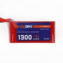 1 pcs OCDAY 14.8 V 1300 mAh/1500 mAh/1800 mAh 75C Lipo Batterie XT60 Plug pour 150-280 Raing Quacopter