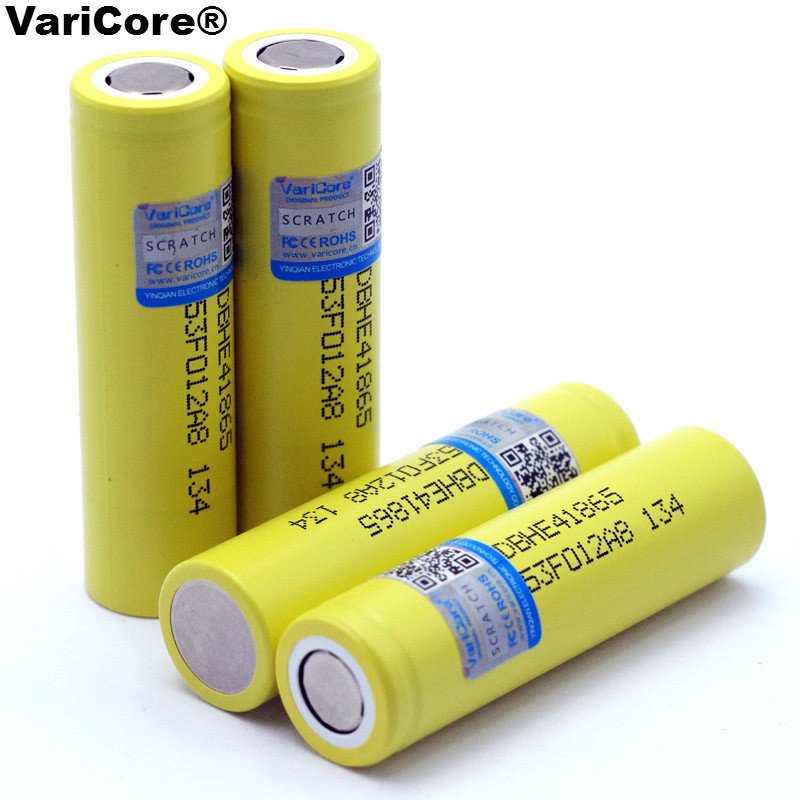 New Original HE4 2500mAh Li-lon Battery 18650 3.7V Power Rechargeable batteries Max 20A,35A discharge For LG E-cigarette 2pcs new original lg hg2 18650 battery 3000 mah 18650 battery 3 6 v discharge 20a dedicated electronic cigarette battery power