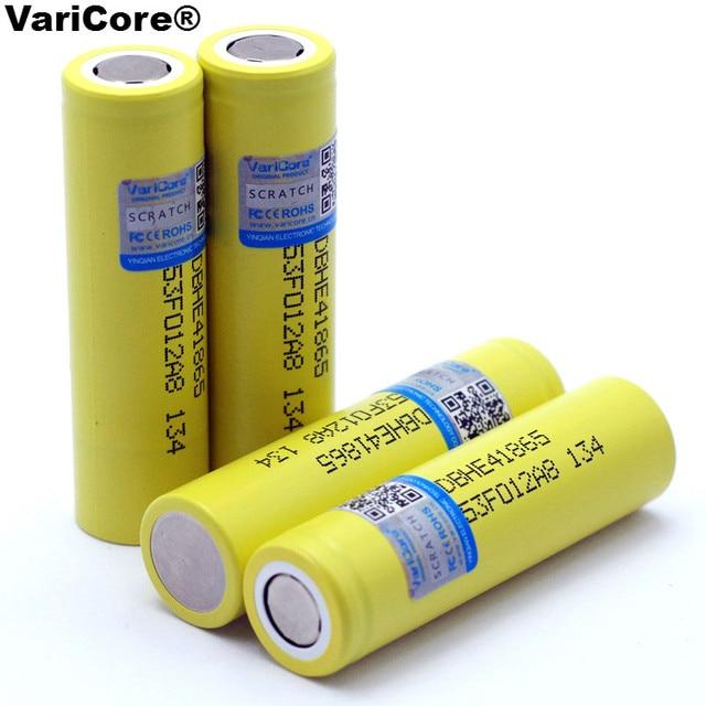 New Original HE4 2500mAh Li-lon Battery 18650 3.7V Power Rechargeable batteries Max 20A,35A discharge For E-cigarette