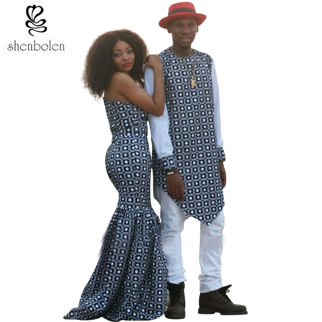 fashion African Clothing dresses for women ankara style fabric batik ...